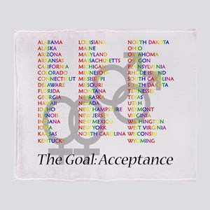 Gay Marriage Acceptance Throw Blanket
