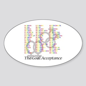 Gay Marriage Acceptance Sticker (Oval)