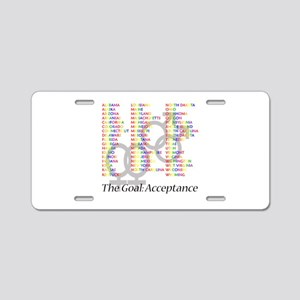 Gay Marriage Acceptance Aluminum License Plate