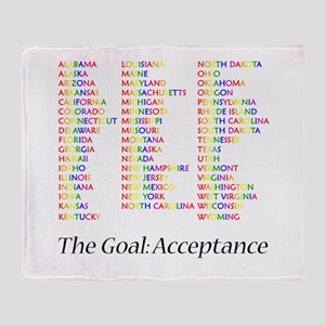 Homosexuality Acceptance Throw Blanket