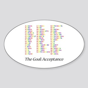 Homosexuality Acceptance Sticker (Oval)