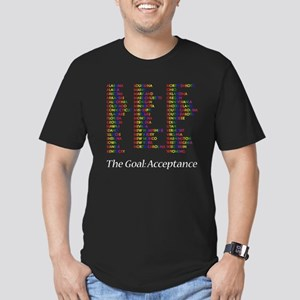 Homosexuality Acceptance Men's Fitted T-Shirt (dar