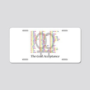 Lesbian Marriage Acceptance Aluminum License Plate