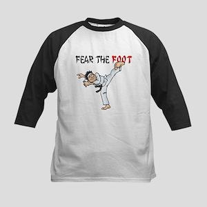 Fear the Foot (Man) Kids Baseball Jersey