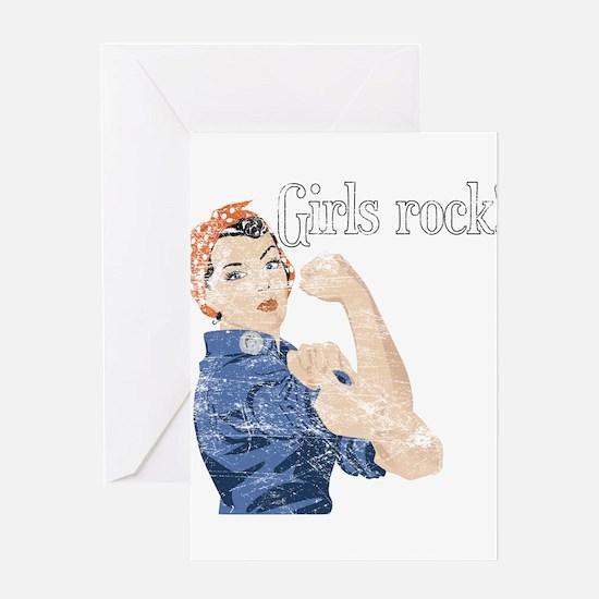 Girls Rock! (vintage) Greeting Card