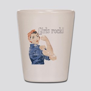 Girls Rock! (vintage) Shot Glass