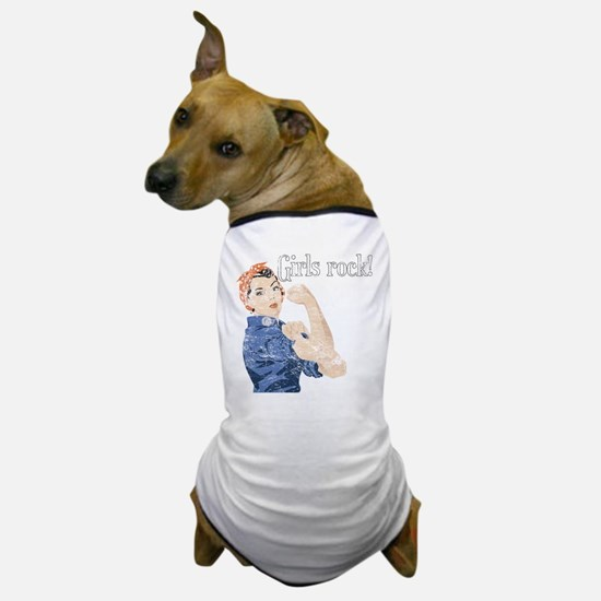 Girls Rock! (vintage) Dog T-Shirt
