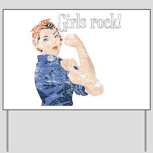 Girls Rock! (vintage) Yard Sign