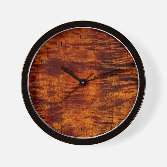 Hawaiian Koa Wood Wall Clock hawaiian time style