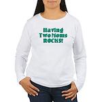 Having Two Moms ROCKS! Women's Long Sleeve T-Shirt
