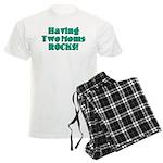 Having Two Moms ROCKS! Men's Light Pajamas