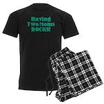 Having Two Moms ROCKS! Men's Dark Pajamas