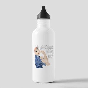 My girlfriend kicks ass Stainless Water Bottle 1.0