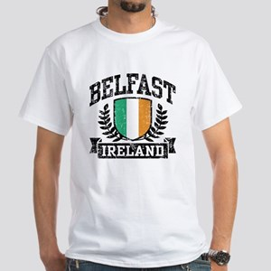 Belfast Ireland White T-Shirt