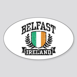 Belfast Ireland Sticker (Oval)