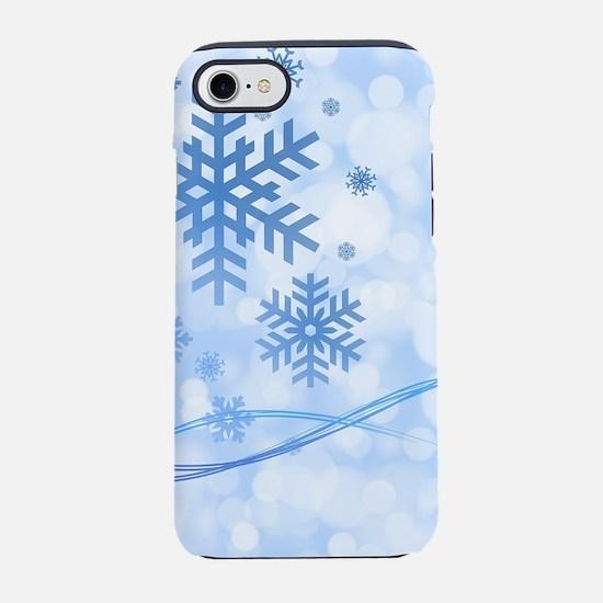 Blue Snowflake iPhone 7 Tough Case