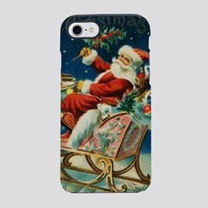 Vintage Santa Claus Sleigh Chr iPhone 7 Tough Case