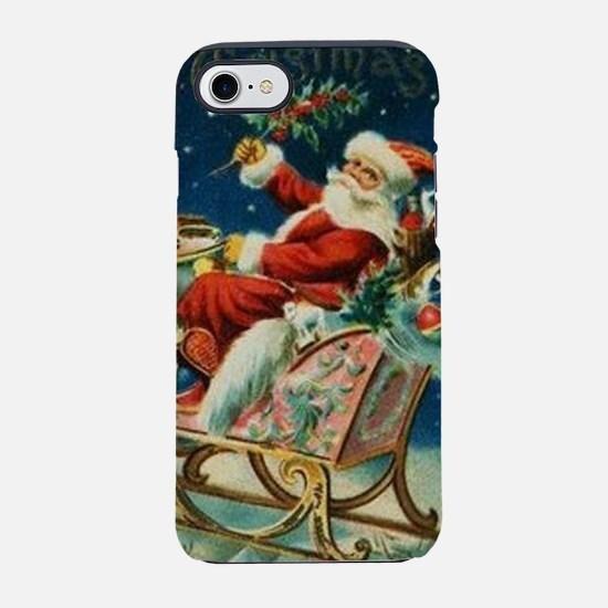 Vintage Santa Claus Sleigh Chr iPhone 7 Tough Case