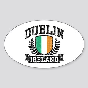 Dublin Ireland Sticker (Oval)