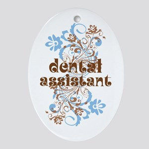 Dental Assistant Gift Ornament (Oval)