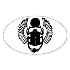 Egyptian Scarab Symbol Sticker (Oval)