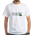 Ask Me Dollar Collapse 1 White T-Shirt