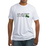 Ask Me Dollar Collapse 1 Fitted T-Shirt