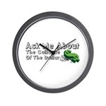 Ask Me Dollar Collapse 1 Wall Clock
