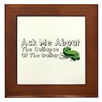 Ask Me Dollar Collapse 1 Framed Tile