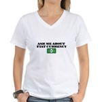 Ask Me Fiat Currency Women's V-Neck T-Shirt