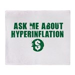 Ask Me Hyperinflation Throw Blanket