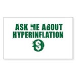 Ask Me Hyperinflation Sticker (Rectangle 50 pk)