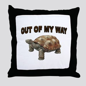 SLOW BUT SURE Throw Pillow