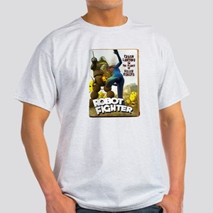 Robot Fighter Fake Pulp Cover Light T-Shirt