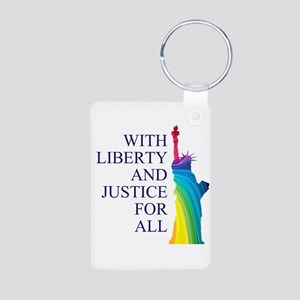 RAINBOW LIBERTY Aluminum Photo Keychain