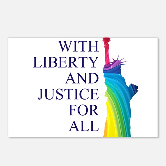 RAINBOW LIBERTY Postcards (Package of 8)