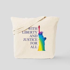 RAINBOW LIBERTY Tote Bag