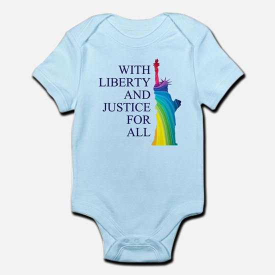 RAINBOW LIBERTY Infant Bodysuit