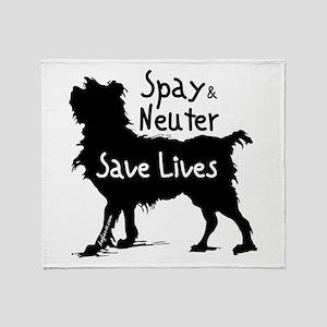 Save Lives (Dog) Throw Blanket