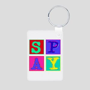 Pop Art Spay Aluminum Photo Keychain