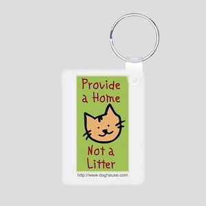 Provide a Home - Not a Litter Aluminum Photo Keych