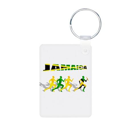 Jamaican Relay Team Aluminum Photo Keychain