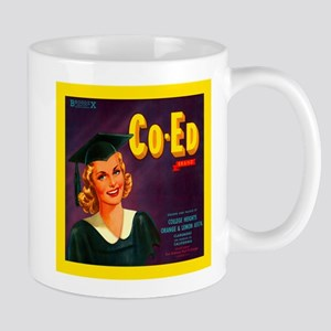 Coed Brand Vintage Label Mug