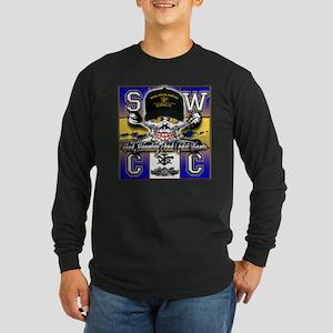 USN SWCC Skull & Bones Long Sleeve Dark T-Shirt