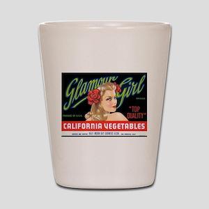 Glamour Girl Vintage Label Shot Glass