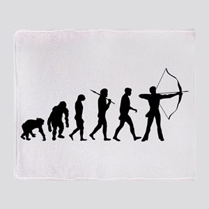 Evolution of Archery Throw Blanket