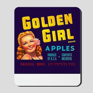 Golden Girl Vintage Label Mousepad