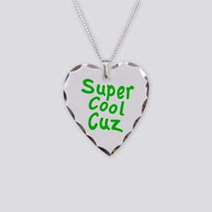 Super Cool Cuz Necklace Heart Charm