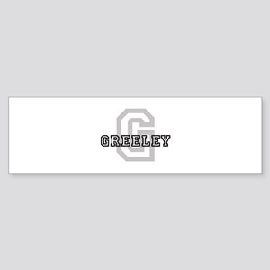 Letter G: Greeley Bumper Sticker