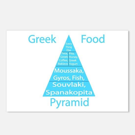 Greek Food Pyramid Postcards (Package of 8)
